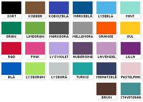 Wallstickers farver