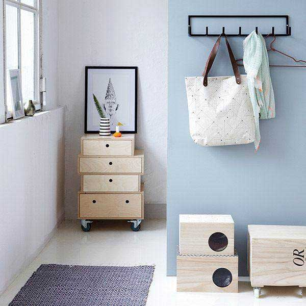 House Doctor sort knagerække