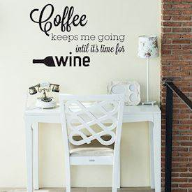 Wallsticker - Coffee keeps me going