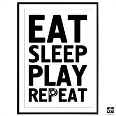 Plakat - Gamer - Eat, Sleep, Play, Repeat
