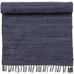 Bungalow recycled kludetæppe - Chindi Dark Blue 70 x 130 cm.