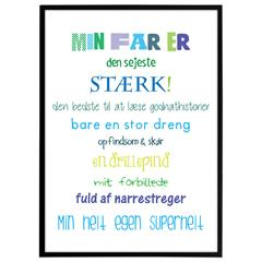 "Plakat - ""min far er""  - Colors"