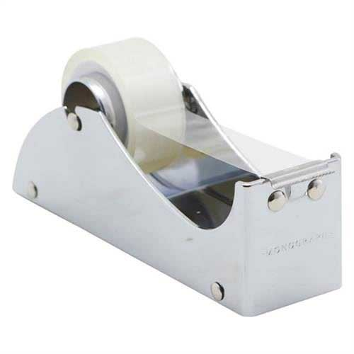 monograph tape dispenser, silver