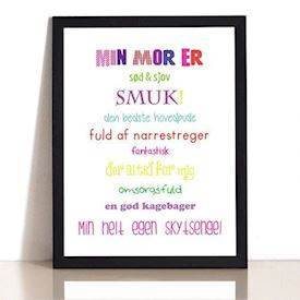 Plakat - Min mor er - Colors