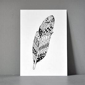 Postkort XL - Zendoodle Feather