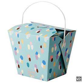 RICE China box - Stor, DOTS. Pakke med 6