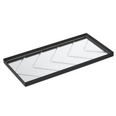specktrum herringbone tray, clear glass