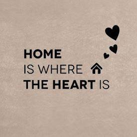 Wallsticker Home is where the heart is