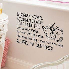 Wallsticker Bjørnen sover 2