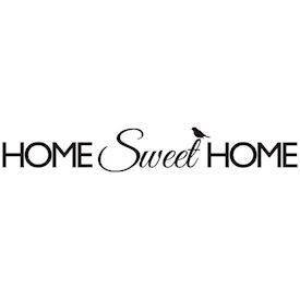Wallsticker Home Sweet Home. M. fugl