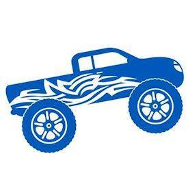 Wallsticker - Monstertruck fra dimaria
