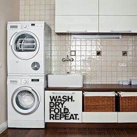 Wallsticker -  Wash, Dry, Fold, Repeat, sort