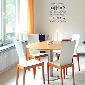 "Wall sticker ""Happiness and rainbows"""