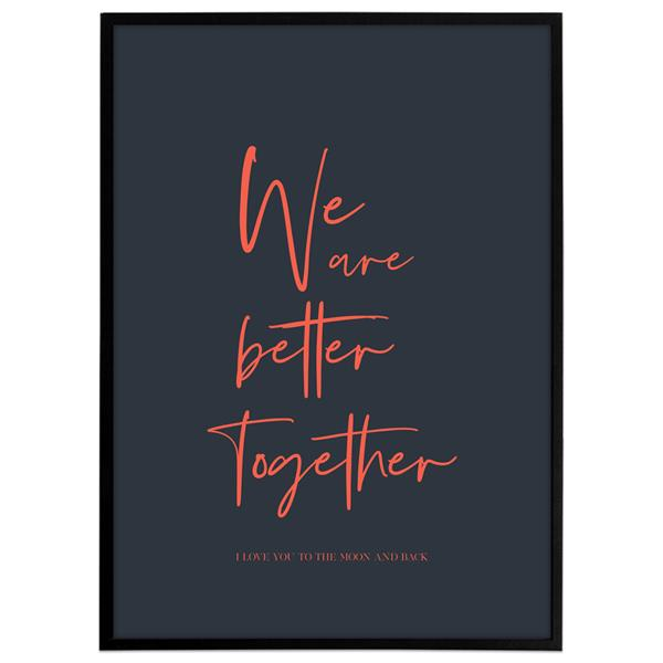 Plakat - We are better together, Colors